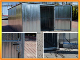 Garaj cu profile zincate şi dimensiuni 3x5m