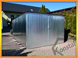 Garaj cu profile zincate deschise şi dimensiuni 3x5m
